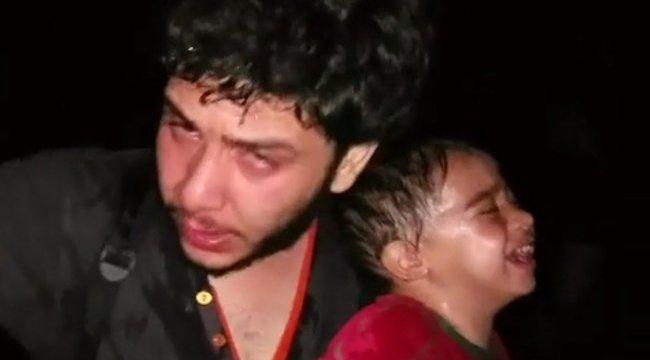 Gázspray-vel fújhatták le a menekült kisgyereket – sokkoló videó