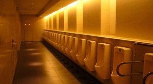 Ön mit tenne, ha beszorulna egy nyilvános WC-be?