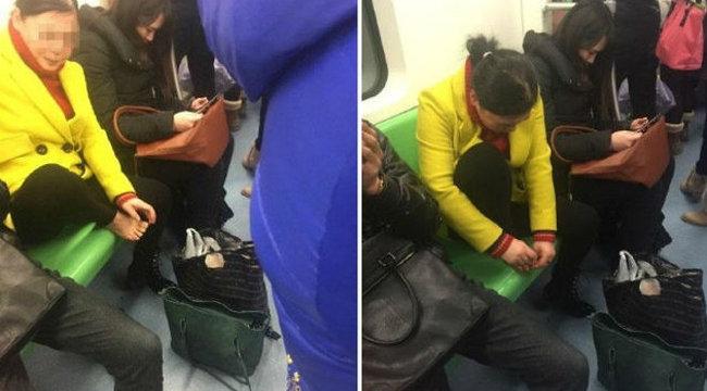 Gyomorforgató, amit ez a nő művelt a metrón