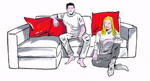 Milyen pozícióban ülnekpárjával a kanapén?Ilyen a kapcsolatuk
