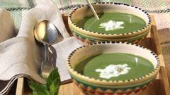 Bors-recept: hideg borsóleves mentával és joghurttal