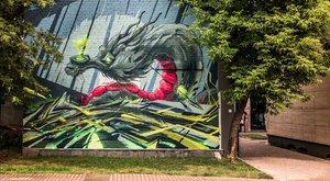 Tűzfalat festettek a magyarok Moszkvában