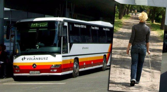 Felháborító: nem szállhatott le elöl a vak nő a buszról