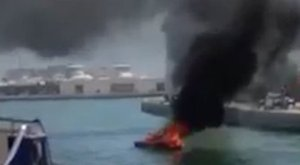 Ferobbant egy csónak, ketten életveszélyesen megégtek