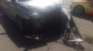 Három gyerek sérült meg a zuglói balesetben – képek