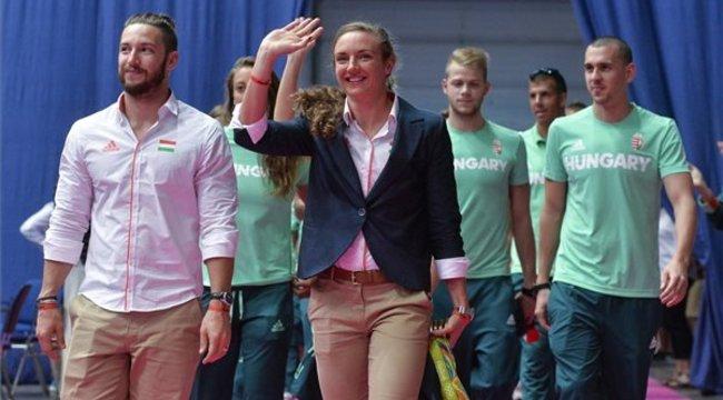 Így zajlott a magyar olimpiai csapat köszöntése