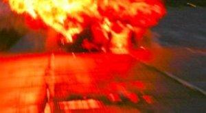 Felrobbant egy autó Antalya külvárosában