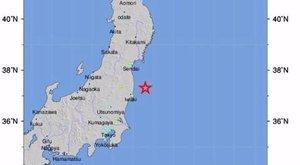 Cunamiriadó Fukushimánál egy hatalmas földrengés után