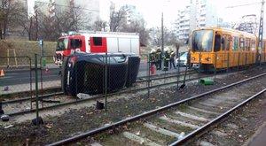 Halálos gázolás az 50-es villamos megállójában (képek)