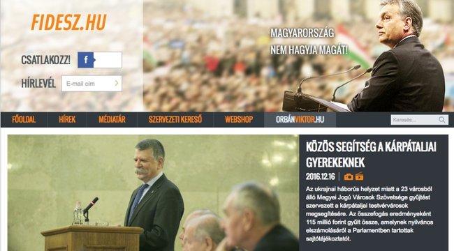 Irreálisan sokba került a Fidesz honlapja