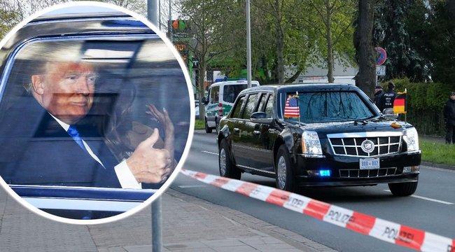 Trump vérfiolákkal utazik az elnöki limuzinban