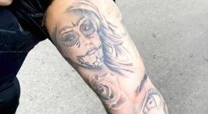 A szexi színésznő arcmása egy rendőr karján tűnt fel - fotó