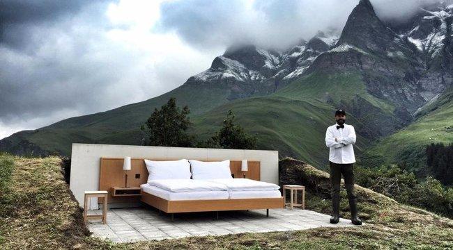 Szabadtéri szálloda, ötcsillagos kilátással