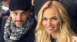 Ezzel a szexbombával nézte a francia rangadót Guardiola - fotók