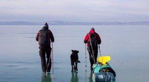 Átsétáltak a Duna jegén a gödi szigetre, kiolvadt a jég, két napra ottragadtak