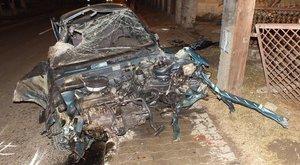 Brutálisan széttörte a lopott kocsit az ózdi férfi – képek