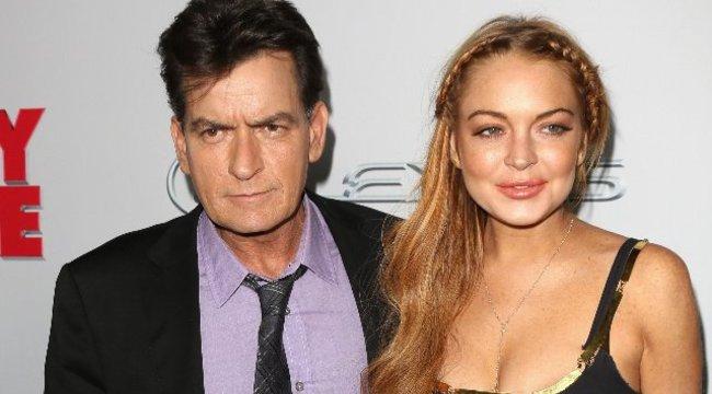 Meglehetősen szomorú: Lindsay Lohan nem volt meg Charlie Sheennek