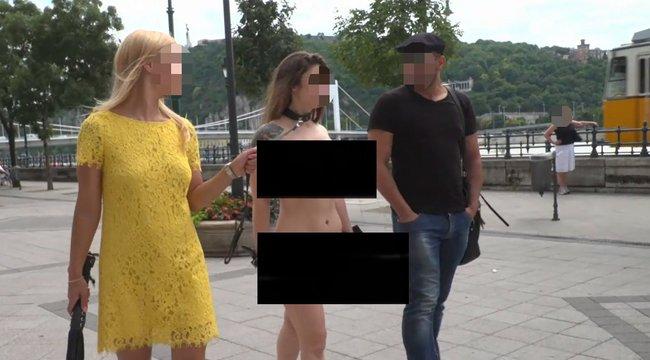 Pornófilmet forgattak a Belvárosban - 18+ fotók