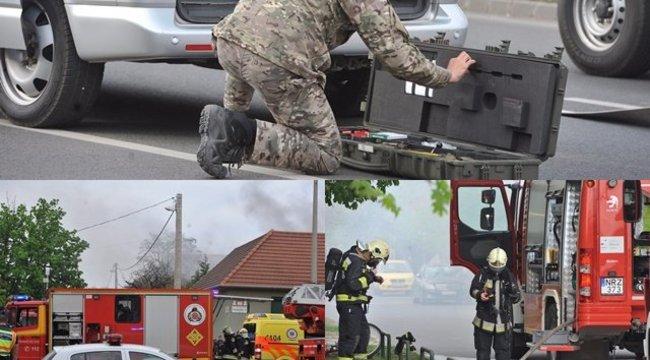 60 négyzetméteres üzem és környéke égett Budapesten – négyen megsérültek (képek)