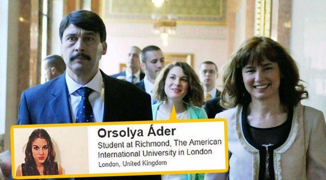 3,5 milliós tandíjat fizet Áder lánya Londonban