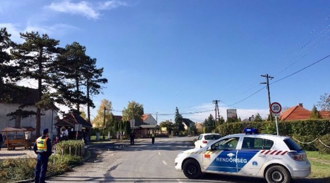 Lezárják keddre a bőnyi rendőrgyilkosság helyszínét