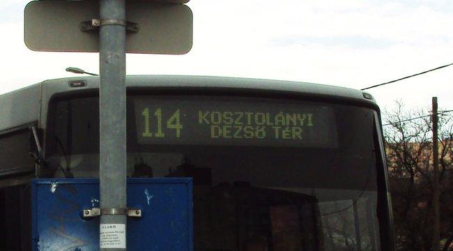 """Utas őrjöngött a 114-es buszon: <b>""""Nyisd ki az ajtót, vagy meggyilkollak!""""</b>"""