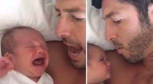 Cuki videó: apunak nagyon jó trükkje van a csecsemősírás ellen