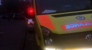 Mentőautó-baleset a Váci úton