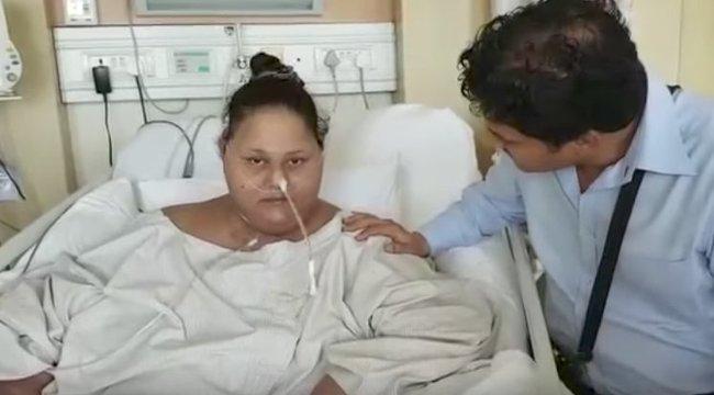 Bő három mázsát dobott le február óta a világ legkövérebb nője