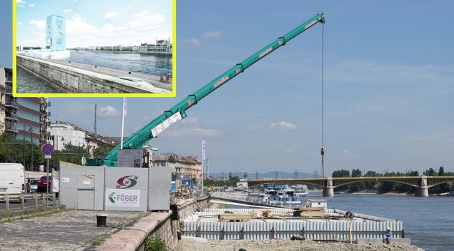 Budapesti úszó-vb: élesben tesztelik az óriástornyot