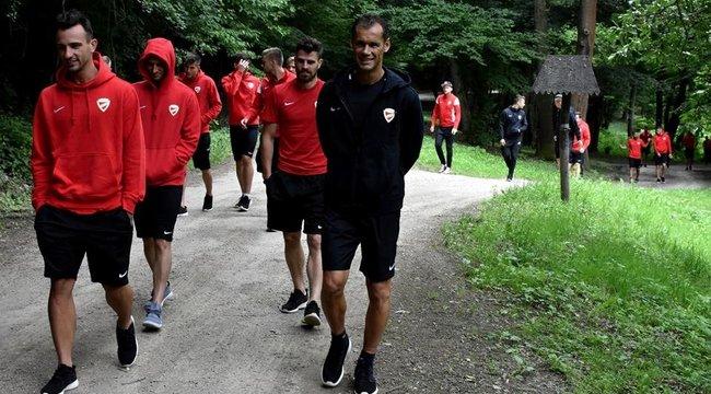 Nomád táborban a Diósgyőr focistái