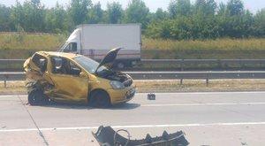 Csúnya baleset az M0-áson: lezárták az autóút egy szakaszát - fotó