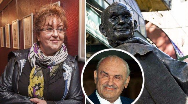 Felesége is lógott a Hofi-szobor fején