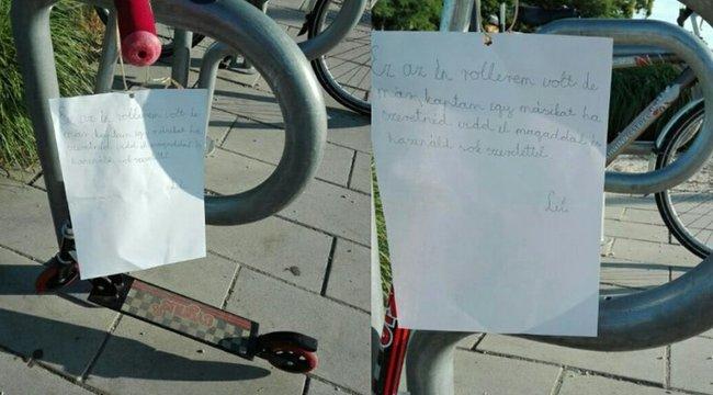 Tündéri cukiság: ismeretlennek adta a rollerjét Lili