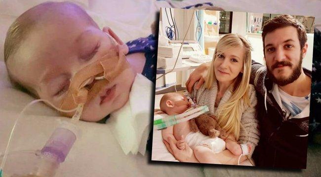 Szívszorító: az utolsó órákat töltik szülei a 10 hónapos csecsemővel- fotók