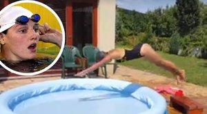 Hosszú Katinka is megirigyelné rajongója fejesét - vicces videó