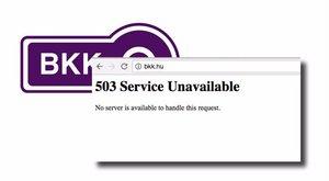 Elesett a BKK weboldala