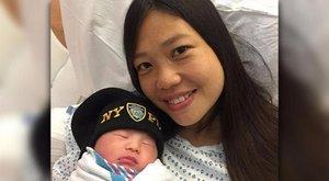 Három évvel apja halála után született meg kislány