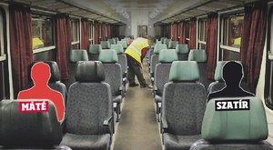 Máté mellett a vonaton kéjelgett a szatír
