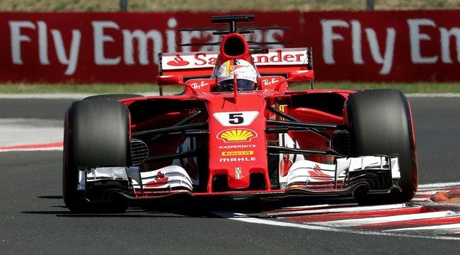 Kettős Ferrari-győzelem a Hungaroringen: Vettel növelte előnyét Hamilton előtt