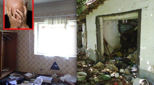 Szétlopták a rákbeteg bácsi házát, amíg gyógykezelésen volt