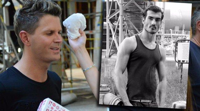 Világhírű férfimodellt hívott első klipjébe Házibuli Attila - fotók