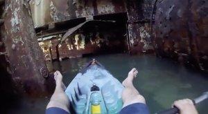 Elképesztő videó: így néz ki belülről egy fél évszázados hajóroncs