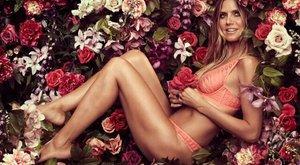 Dögös: Heidi Klum magátreklámozza