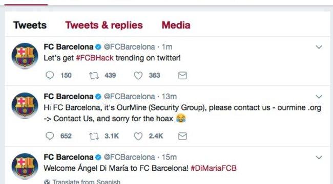Hoppá, meghekkelték a Barcelona twitterjét - csak kamu a világsztár leigazolása!