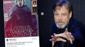 Luke Skywalker megkapja a címlapot, amivel magyarul büszkélkedett