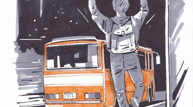 Visszafordult a busz a megállóban hagyott tinédzserért