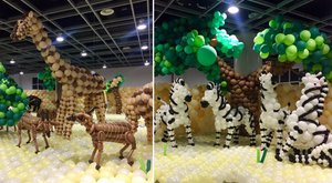Félmillió lufiból készült az állatkert - fotók