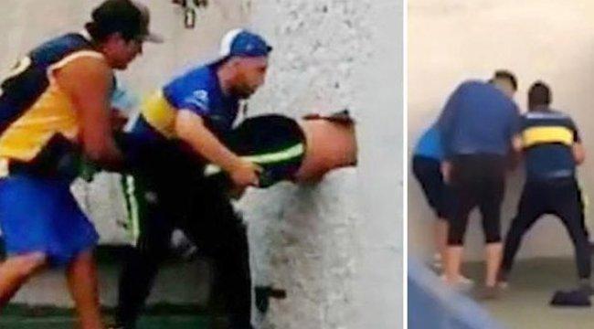 Ezt meg hogy? A stadion falában ragadt egy férfi (videó)
