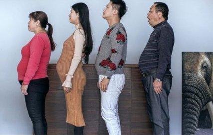 Az egész elhízott família kockahasat gyúrt magának, mire megszületett a legújabb családtag – fotók